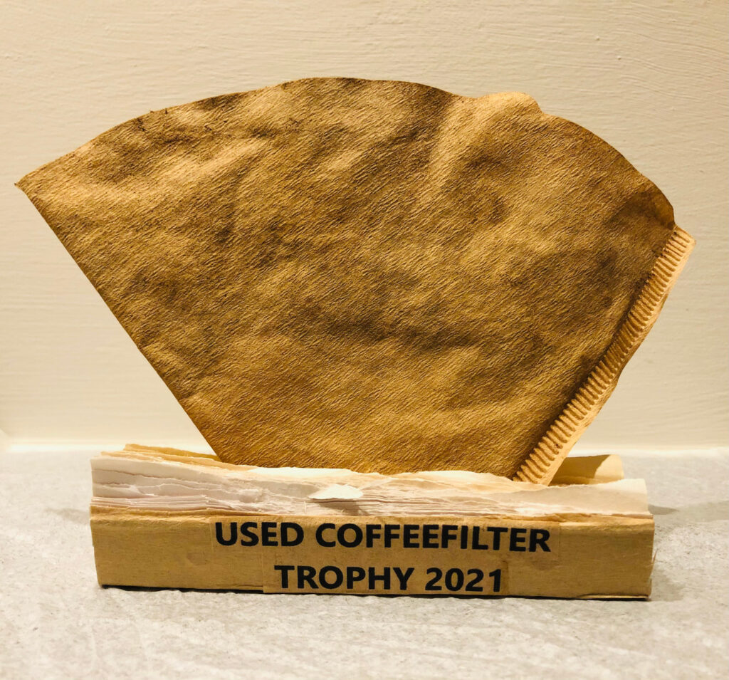 used coffeefilter mailart by ed hansen